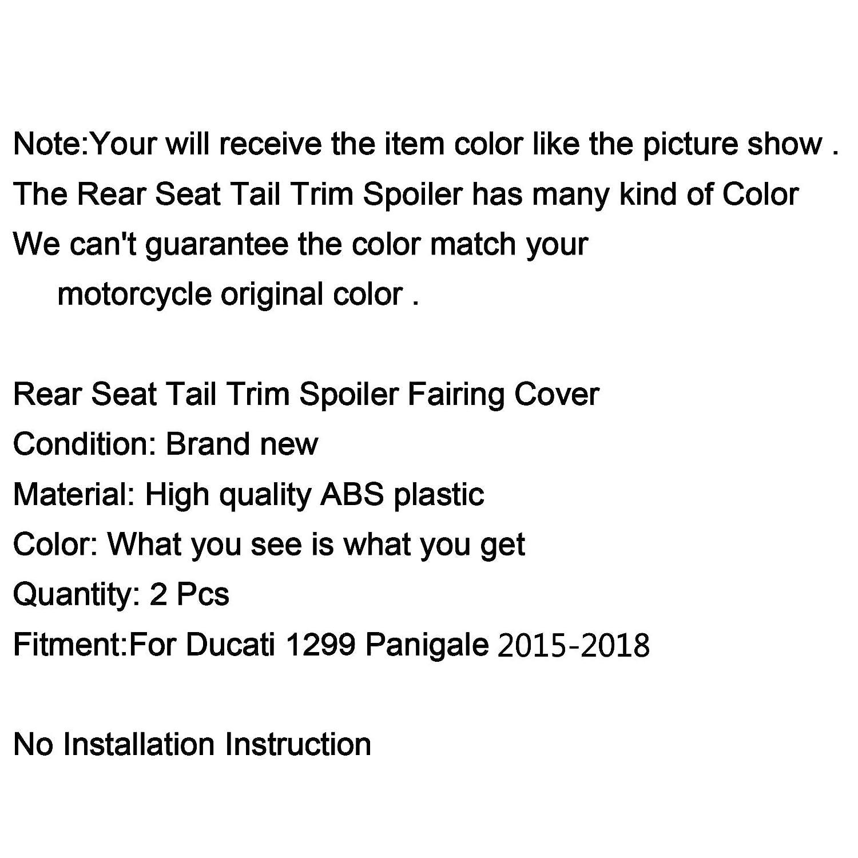 Artudatech Motorrad Soziusabdeckung Sitzkappe Verkleidung Heckabdeckung R/ücksitzbezug Rear Seat Cowl Fairing Tail Cover f/ür DUCA-TI 959 1299 Panigale 2015-2018