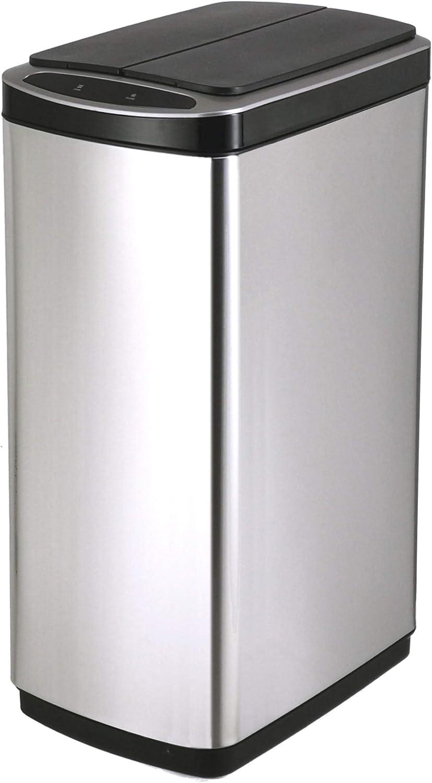 センサー式 ステンレス ダストボックス スリム タイプ 大容量 50リットル