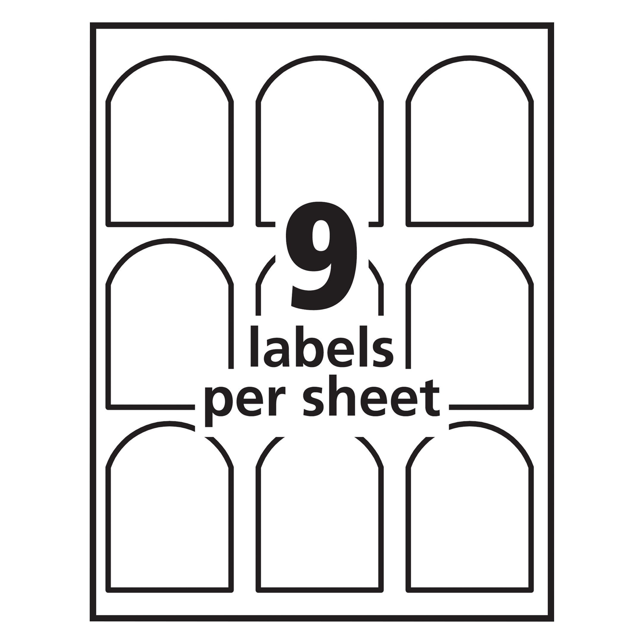 Avery Textured Print-To-The-Edge Arched Labels, Laser Printers, 3 x 2.25-Inches, White, Pack of 90 (22809) by Avery (Image #6)