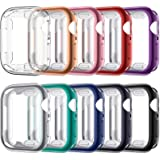 VASG [10 Pack] Screen Protector Case Compatible with Apple Watch Series 6 / SE/Series 5 / Series 4 44mm, Ultra-Thin Soft TPU
