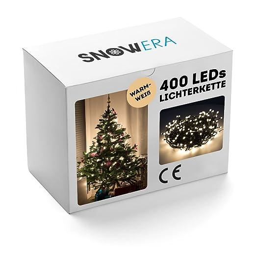 Weihnachtsbeleuchtung Mit Timer.Snowera 400led Lichterkette Weihnachtsbeleuchtung Mit Timer Perfekt Für Den Weihnachtsbaum Tannenbaum