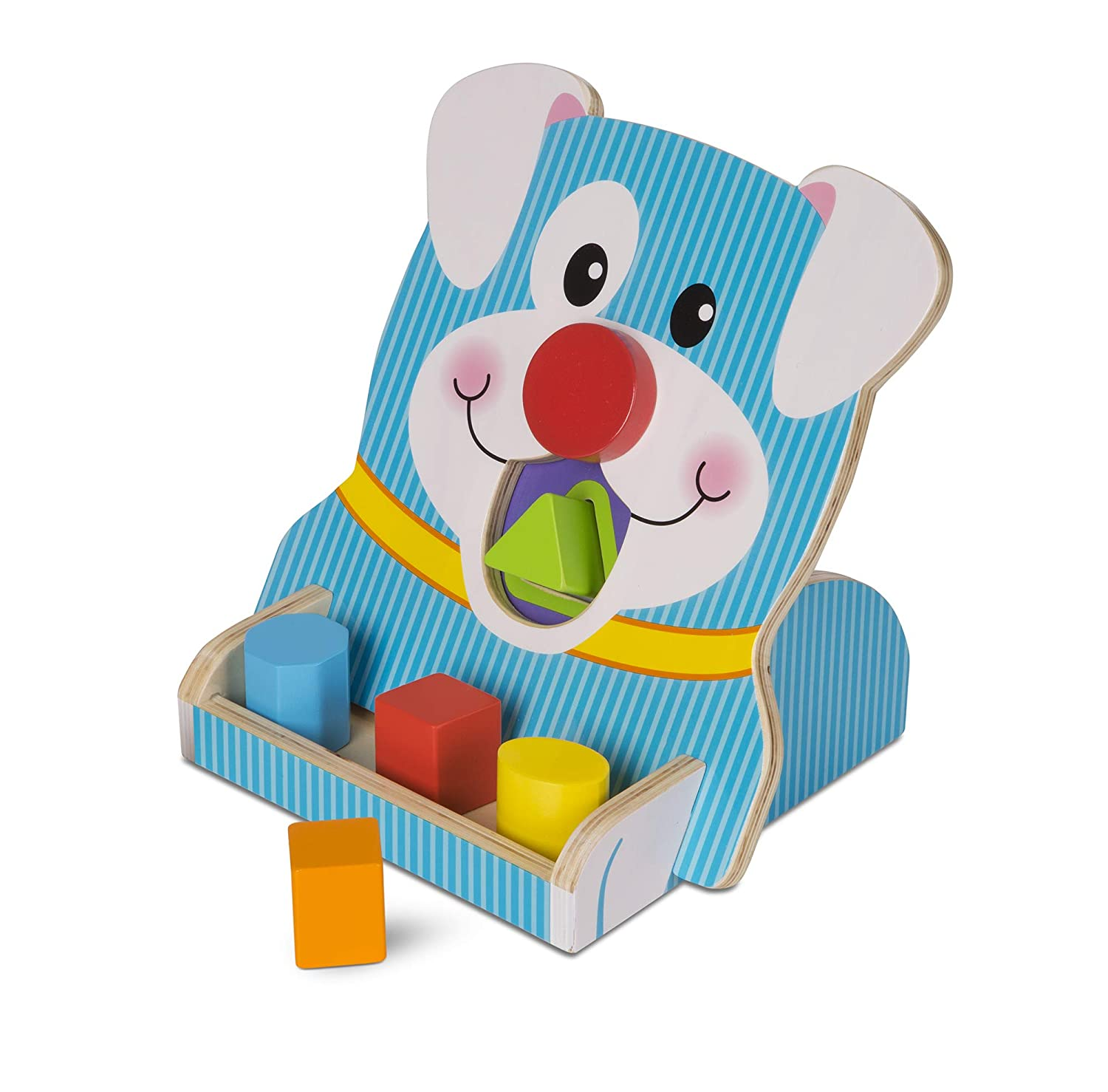 Melissa Doug First Play Wooden Spin Feed Shape Sorter