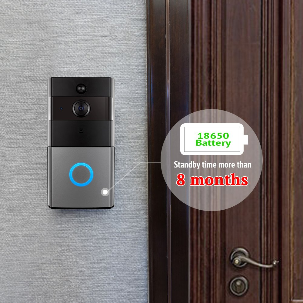 Mbangde Wireless Video Doorbell, Smart Wi-Fi Video Door bell with Motion Detection, Night Vision Infrared LEDs, Two-way Audio for IOS and Android App, with 32G Strorage by Mbangde (Image #2)