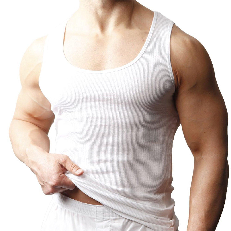 Players Men 100/% Combed Cotton A-Shirts # 900 PL900-4XT-WHITE