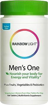 Rainbow Light Men's One Multivitamin for Men - Non-GMO, Vegetarian & Gluten Free