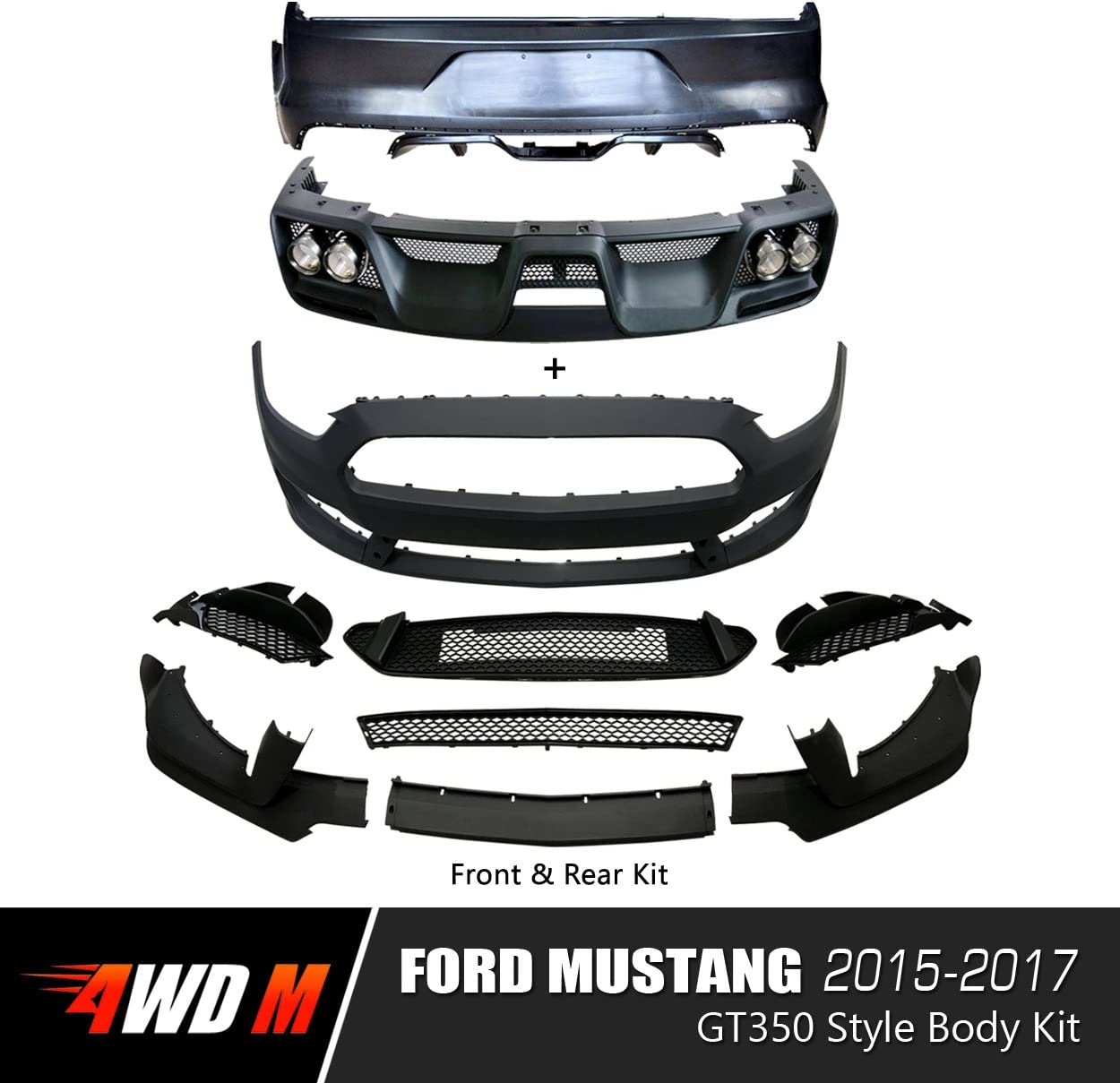 Primed FIT 15-17 FRONT BUMPER COVER Japan//Mexico Built
