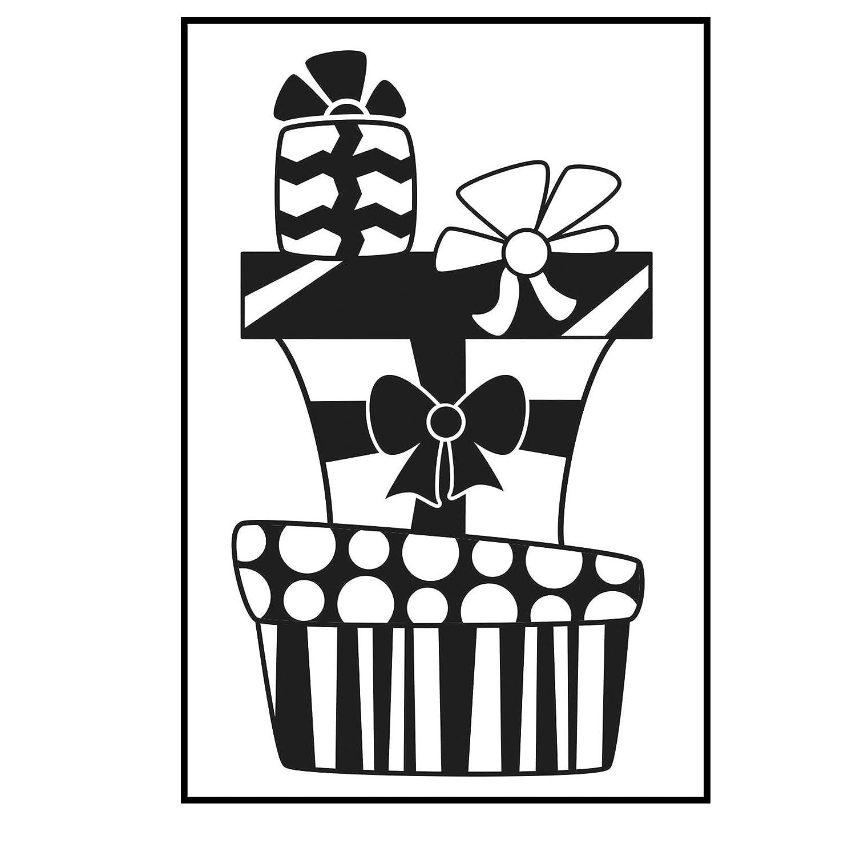Darice Embossing Folder Cartella per Goffratura Mascherina Pila di Regali 10.8x14.6x0.3 cm
