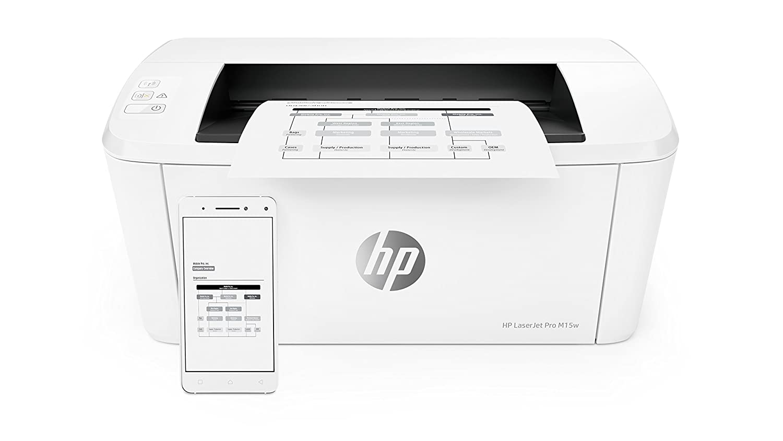 wei/ß HP LaserJet Pro M15w Laserdrucker Schwarzwei/ß Drucker, WLAN, Airprint