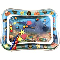 Placextre Kids Infants Water Play Mat Inflatable Fun Activity Play Center with Fishing Rod