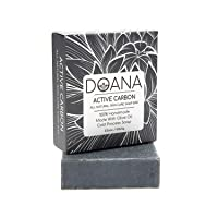 Active Carbon Soap Bar - Activated Charcoal - For Oily Skin, Effective Against Skin...