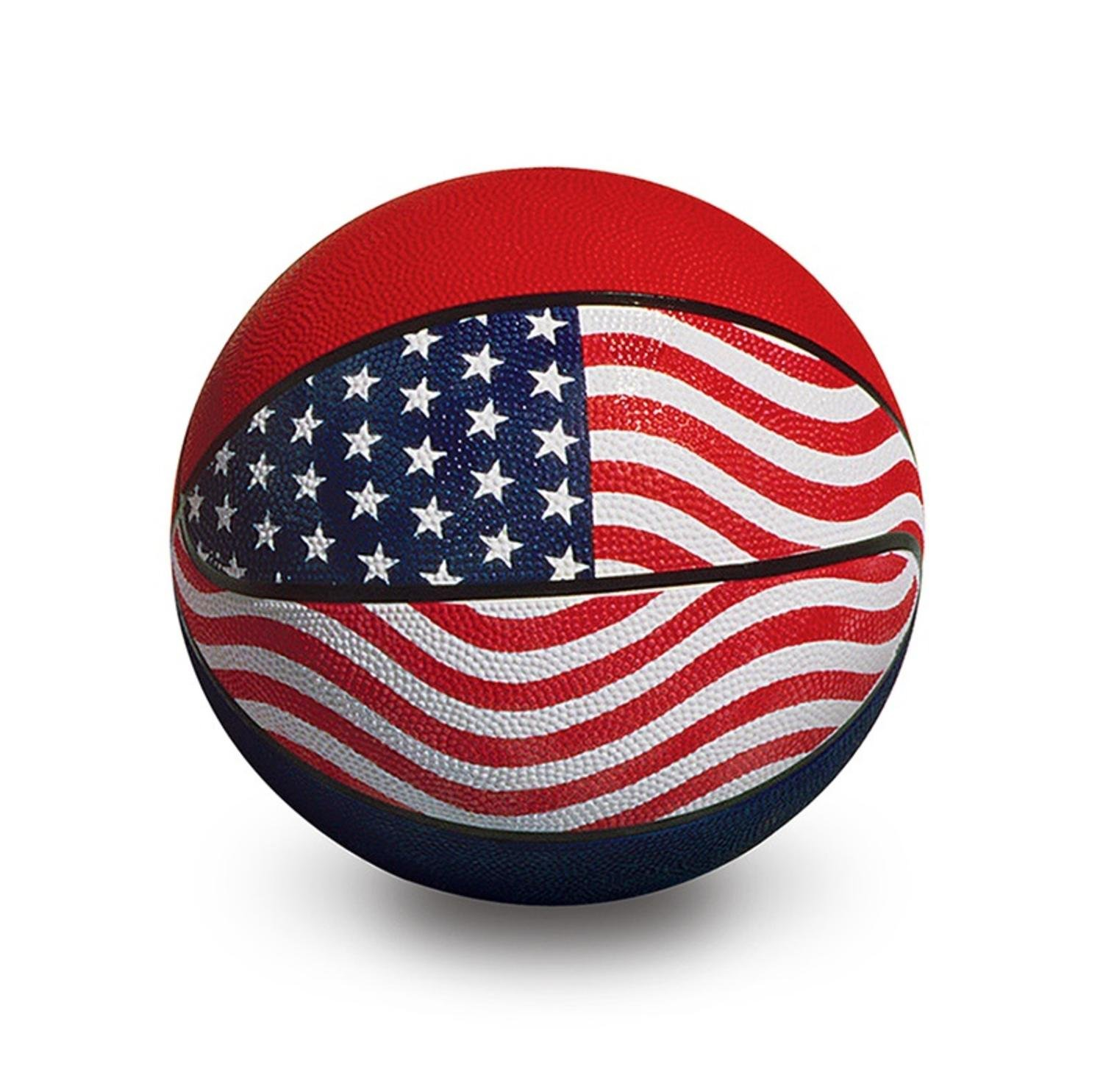 9'' Red, White and Blue Sport Ball Official USA/WBA Competition Basketball Swimming Pool Accessory