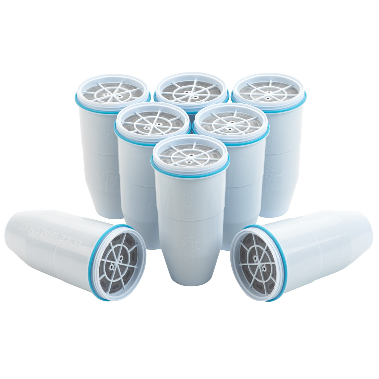 ZeroWater Replacement Filters 8-Pack BPA-Free Replacement Water Filters for ZeroWater Pitchers and Dispensers NSF Certified to Reduce Lead and Other Heavy Metals