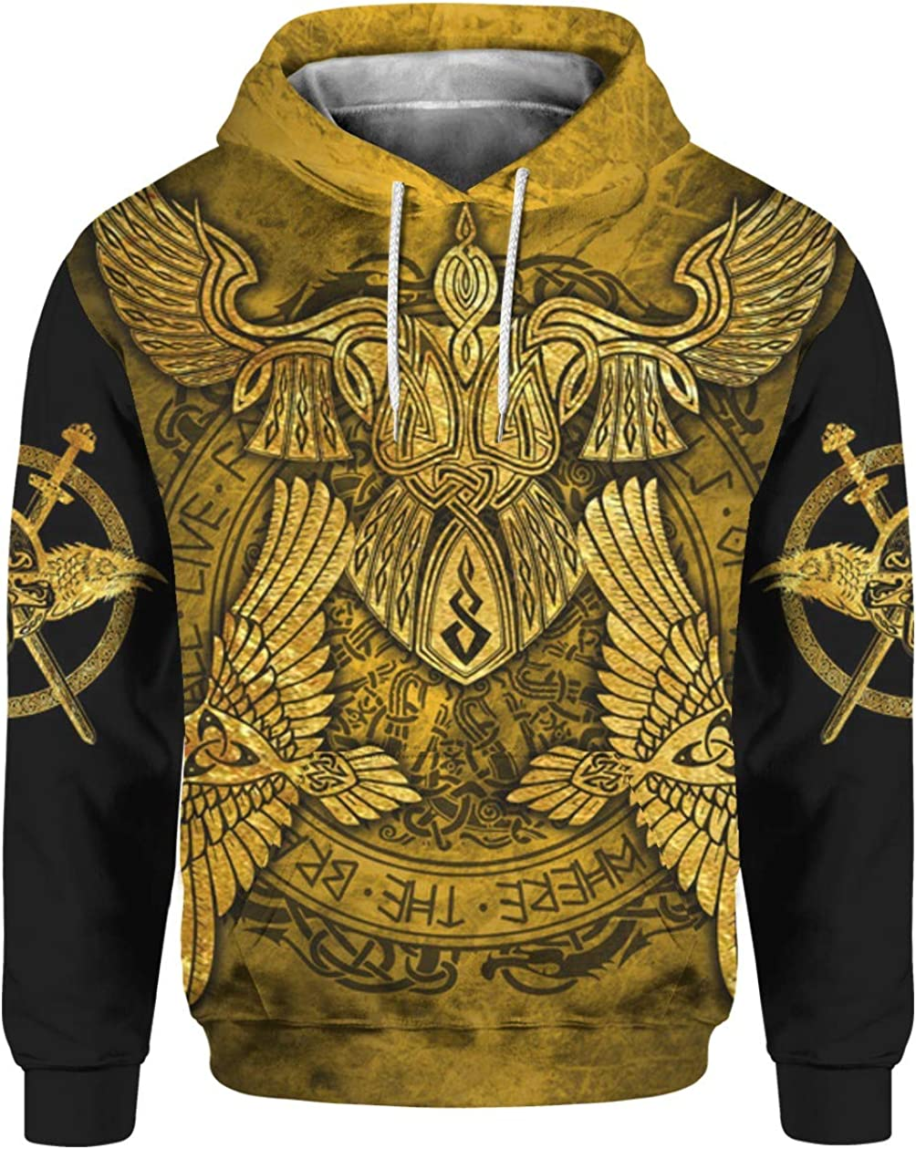 Viking Odin Gold 3D All Over Sublimation Printing Shirt