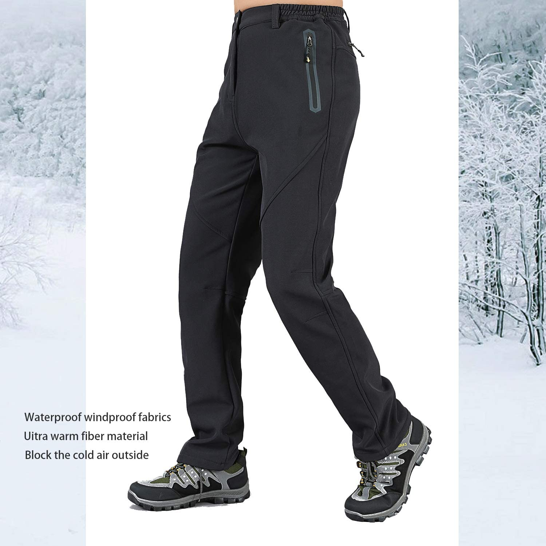 Ynport Crefreak Mens Outdoor Windproof Trousers Softshell Warm Fleece Lined Water Repellent Hiking Climbing Trousers