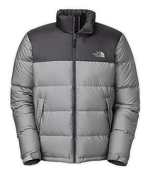 New The North Face Men S Nuptse Jacket High Rise Grey Htr Asphalt