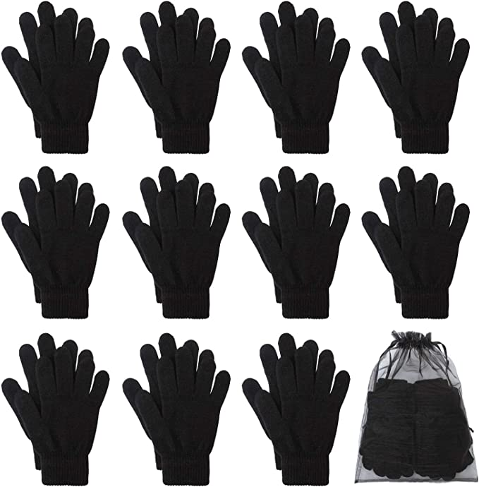 NEW Ladies Girls MAGIC Gloves Womens Stretchy Warm Winter Magic Knitted Gloves