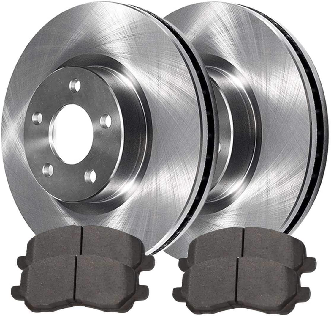 AutoShack RSMK6582-6582-673-2-4 Front Brake Rotors and Semi Metallic Pads