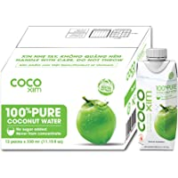 Cocoxim 100% Pure Coconut water - 330ml (pack of 12) | Source of Potassium | Rehydration