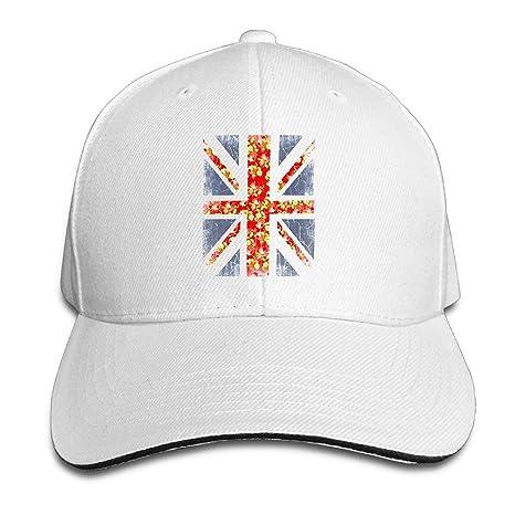 Gorra de sándwich con Estampado Floral Union Jack de Gorras de ...