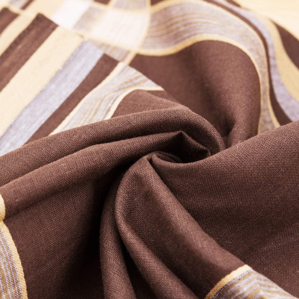 HOULIFE Homme Mouchoirs Tissu en Pur Coton Motif Rayures Carreaux Classique pour Usage Quotidien Lot de 6//12 Pi/èces 40x40cm