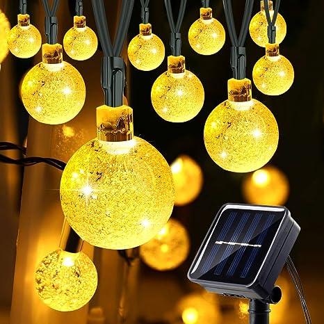 Addobbi Natalizi Luci.Luci Natalizie Da Esterno Luci Solare 21ft 30 Led Addobbi Natalizi Catene Luminose Luci Decorazione Di Natale Per Albero Di Natale Illuminazione Solare Per Giardino Amazon It Illuminazione