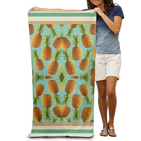 Toallas de baño con patrón de piña divertidas, toallas de playa para adultos, suaves