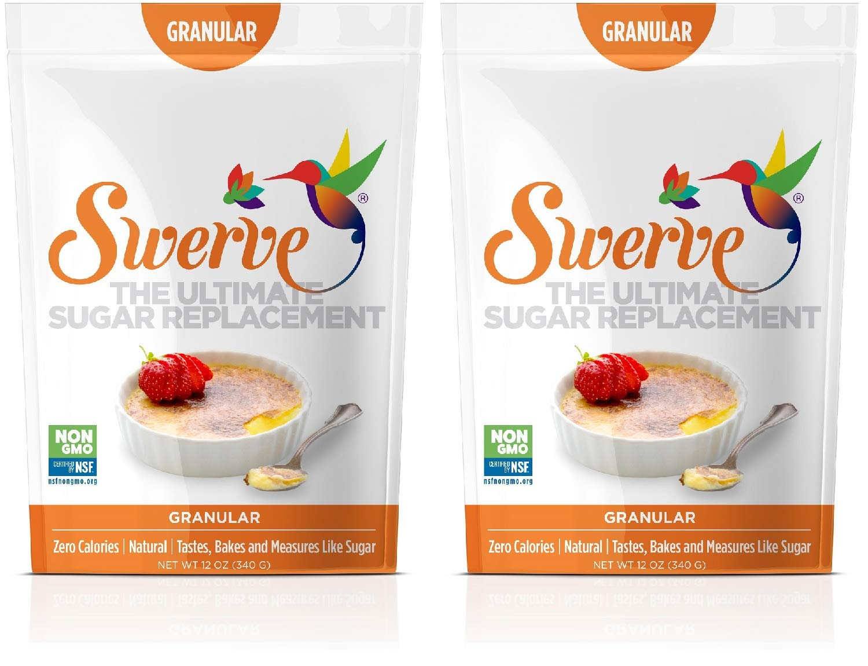 Swerve Sweetener, Granular, 12 Ounce (Pack of 2)