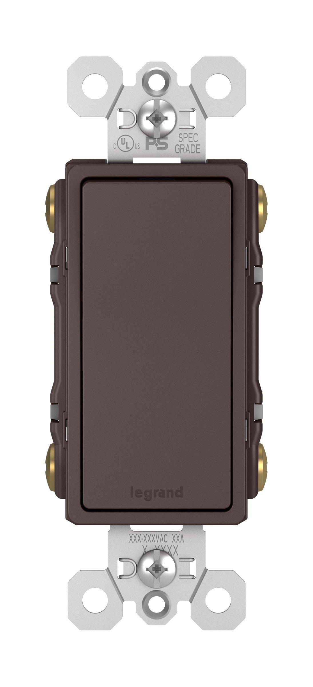 Legrand - Pass & Seymour TM874DBCC6 15A 4-Way Decorative Switch, Bronze