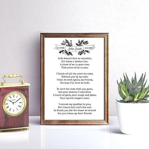 Amazon com: In Loving Memory Memorial Poem Print: Handmade