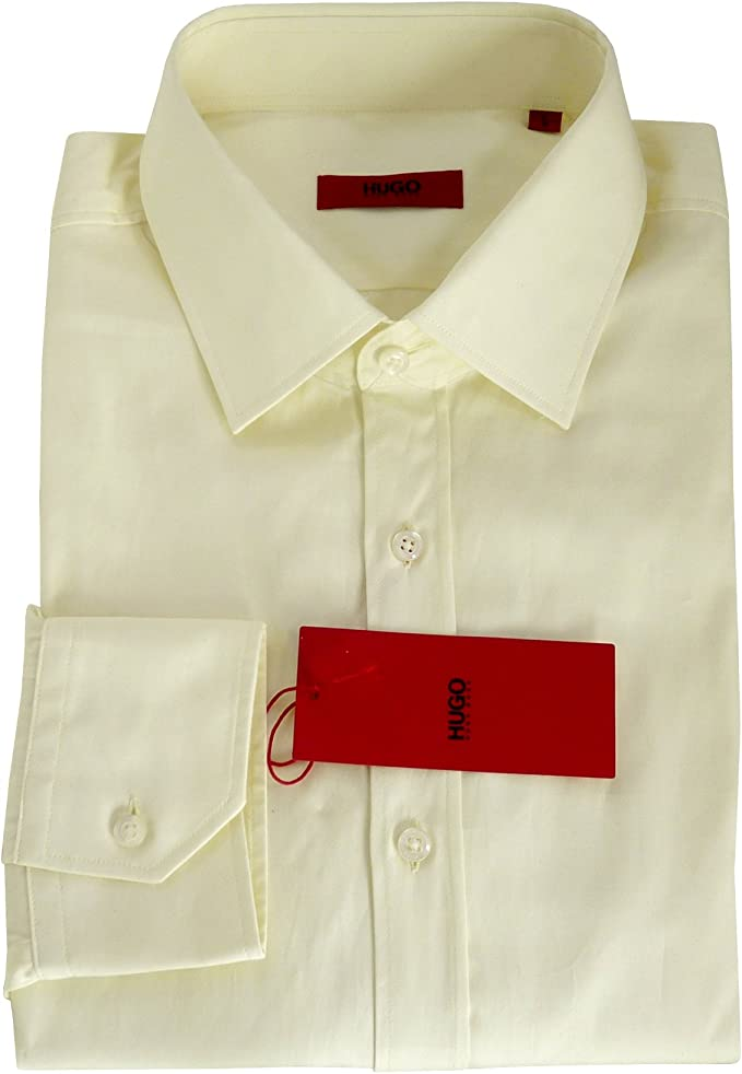 BOSS Camisa Hugo Eifel Creme Crema Medium: Amazon.es: Ropa y ...
