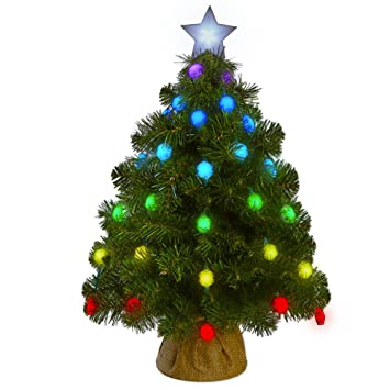 tree effects tabletop christmas tree with 50 full color light show effects by geekmytree