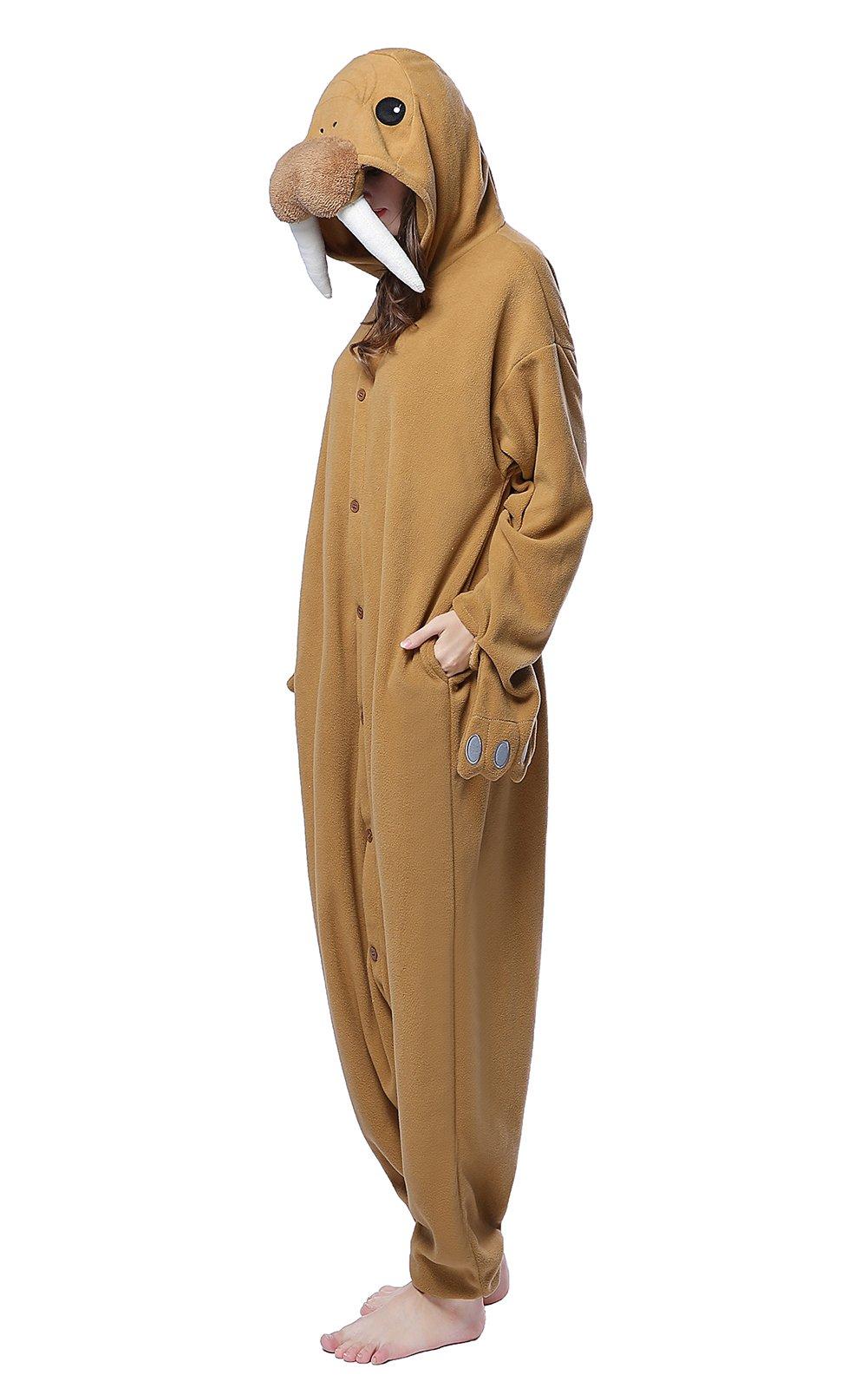 NEWCOSPLAY Halloween Cartoon Cosplay Costumes Adult Unicorn Pajamas (XL-for Height 5'11''-6'2'', Walrus)