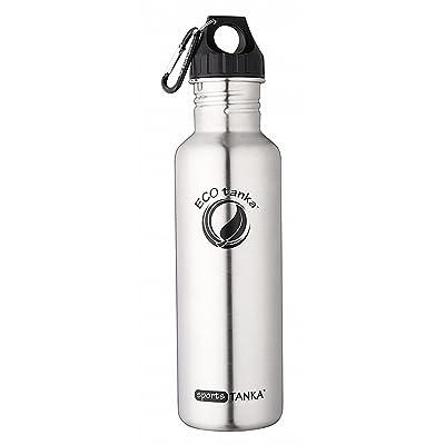 ECOtanka | 0,8l sportsTANKA 800 ml – bouteille en acier inoxydable - spécifiquement pour les sports, randonnée, camping, plage, yoga, voyage, trekking, en plein air, école, enfants - mieux que le pl