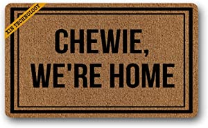 Artsbaba Welcome Doormat Chewie We're Home Door Mat Rubber Non-Slip Entrance Rug Floor Mat Balcony Mat Funny Home Decor Indoor Mat 30 x 18 Inches