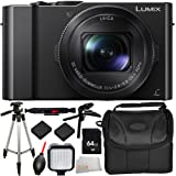 Panasonic Lumix DMC-LX10 Digital Camera 12PC Kit - Includes 64GB SD Memory Card + 2 Replacement Batteries + Carrying Case + Pistol Stabilizer + MORE - International Version (No Warranty)
