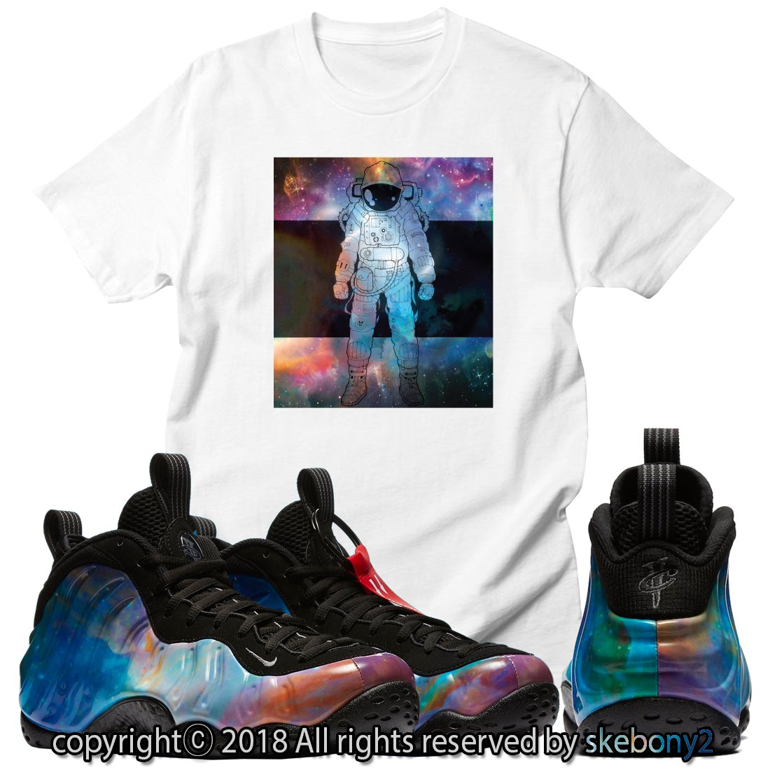 8f2afc2847d Custom T Shirt Matching AIR Foamposite Pro Big Bang FOAM-1-9-13 at Amazon  Men s Clothing store