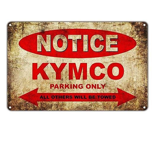 MiMiTee Notice Kymco Motorcycles Parking Only Cartel De ...