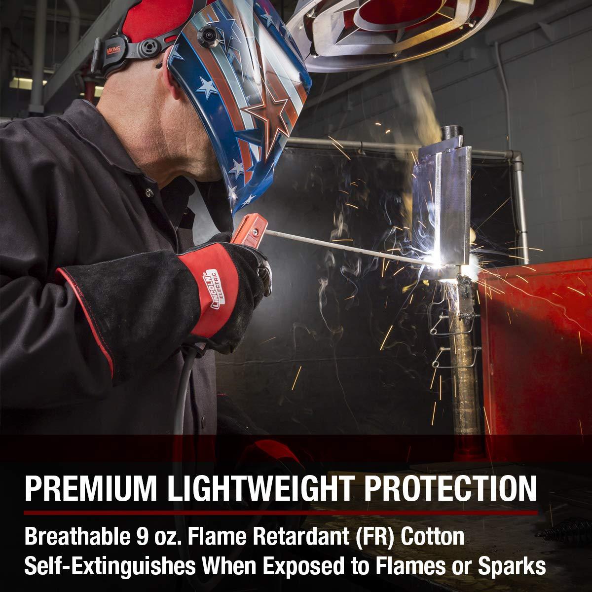 Lincoln Electric  Premium Flame Resistant (FR) Cotton Welding Jacket | Comfortable | Black | XXXL | K2985-XXXL by Lincoln Electric (Image #4)
