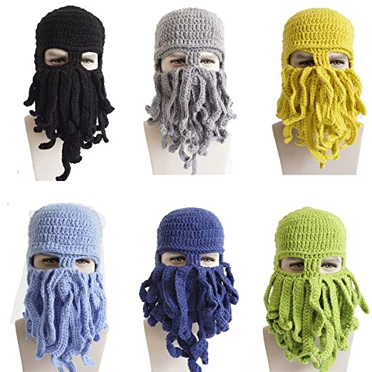 Yosang Adult Handmade Crochet Knitted Beanie Cap Wind Ski Mask Hat