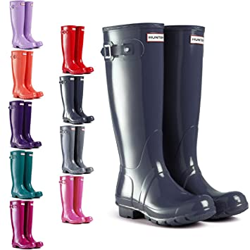 super popular a1b6b 09aef Hunter Original Tall Gloss, Botas de Agua para Mujer