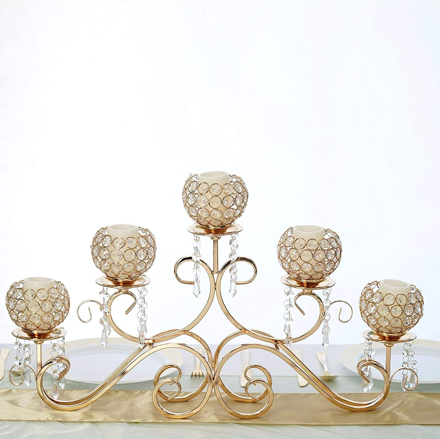 1//3//5 Arms Candle Holder Candelabra Candlestick Dinning Table Decor Props