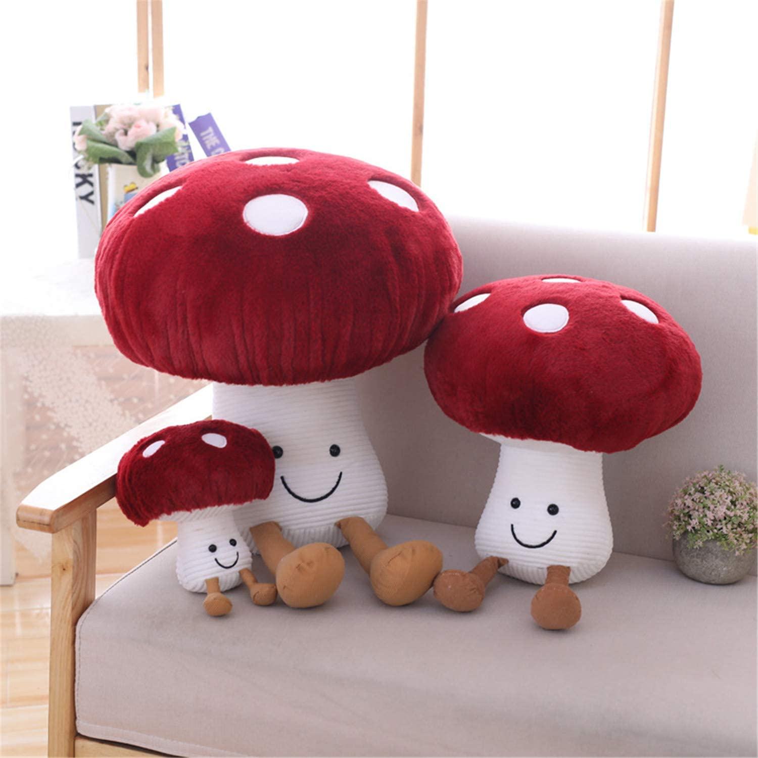 SPING DAWN Mushroom Pillows for Beds and Sofas 7.8inches Fun Plush Toys and Home Decor Items