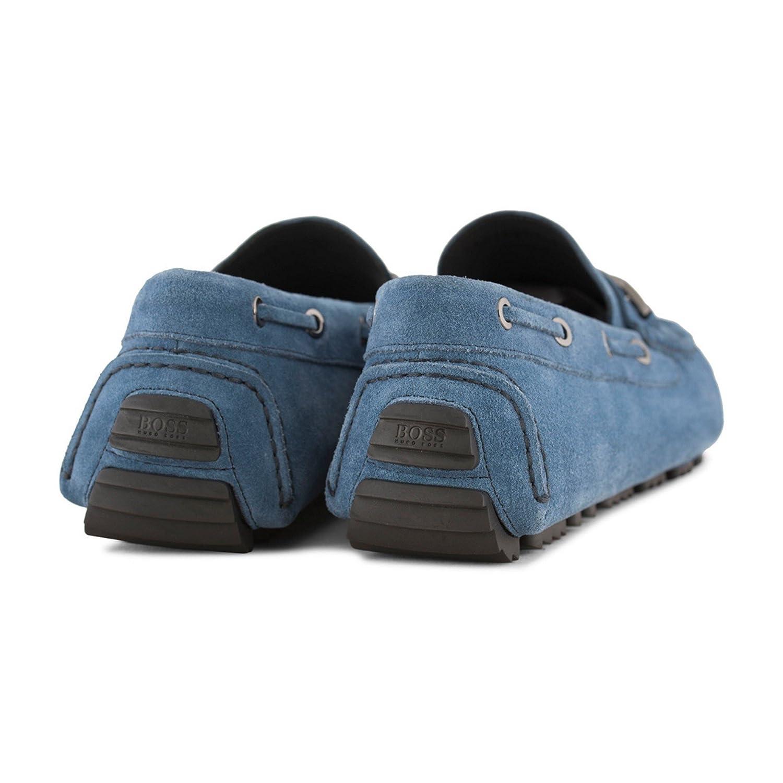 Hugo Boss - Mocasines de Piel para Hombre Azul Azul: Amazon.es: Zapatos y complementos