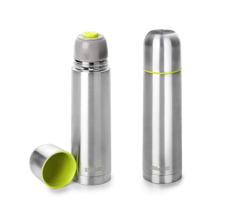 IBILI Termo per liquidi Mini 200ml, in Acciaio Inox, Metallico, 5.5x 5.5x 20.5cm Ibili Menaje SA Ibili_753821