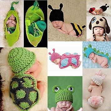 c63b4d0f9ee0a Amazon.com: Whatyiu Baby Girl Boy Crochet Outfits Infant Photo Prop ...