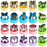 """Magigift 1.5"""" Vegetable Cutter Shapes Set - Mini Cookie Cutters Fruit Cookie Pastry Stamps Mold for Kids Baking and Food Supp"""