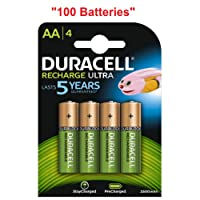100x Duracell Ultra AA Double A 2500mAh Rechargeable Battery Batteries 81535767
