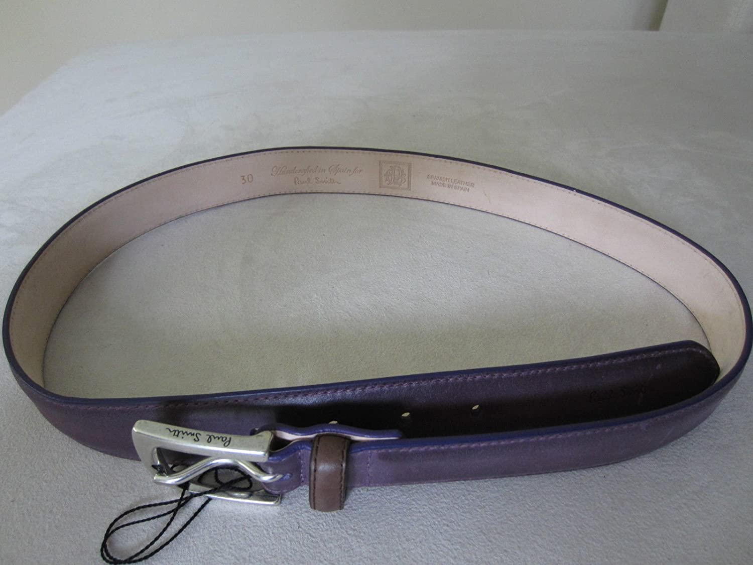 "Paul Smith Designer ""Handcrafted In Spain for Paul Smith Designer"" Purple Belt - Size 32 B015WEEW52"