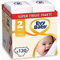 Evy Baby Bebek Bezi, Mini 2 Beden, 120 Adet