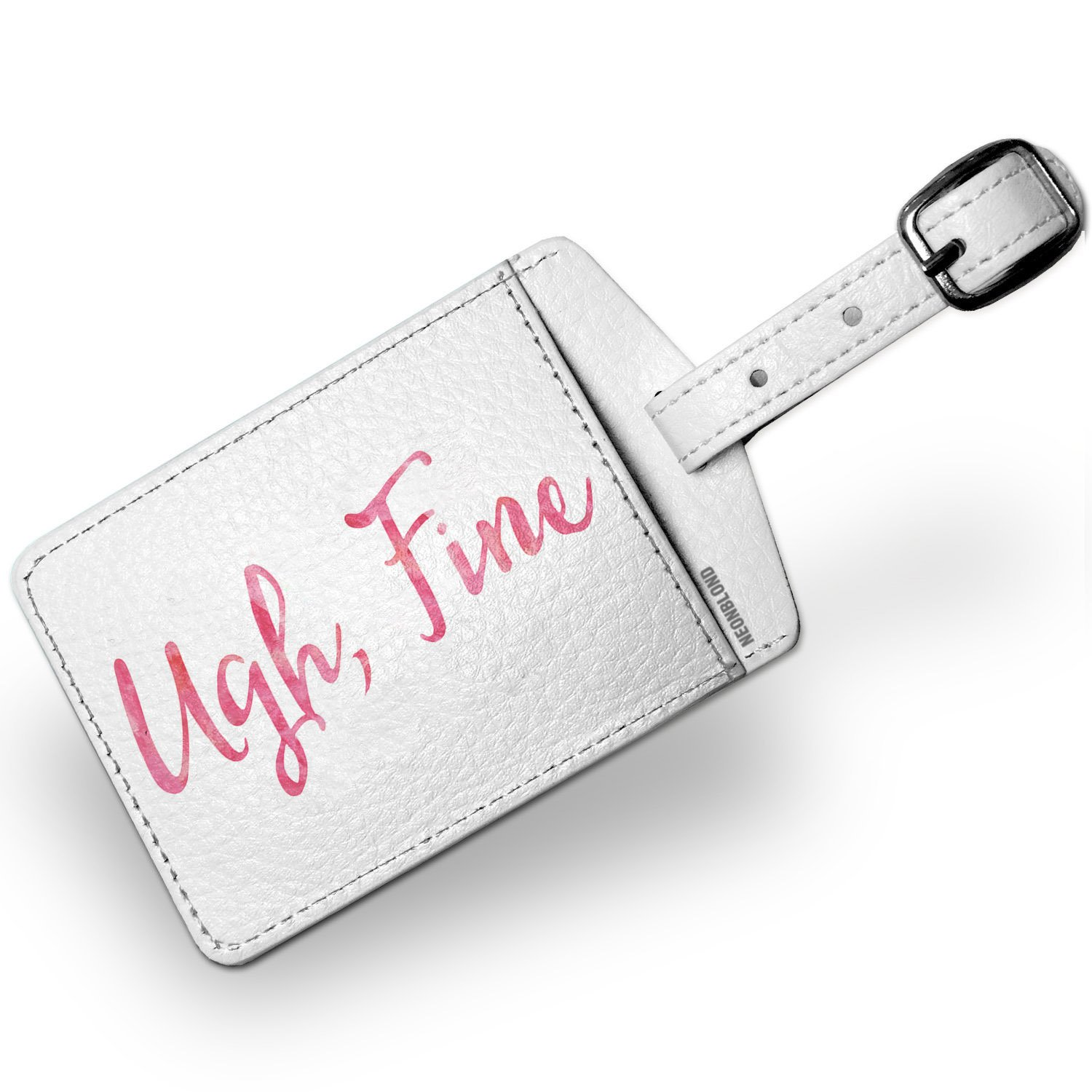 Luggage Tag Ugh, Fine Valentine's Day Pink Watercolor - NEONBLOND